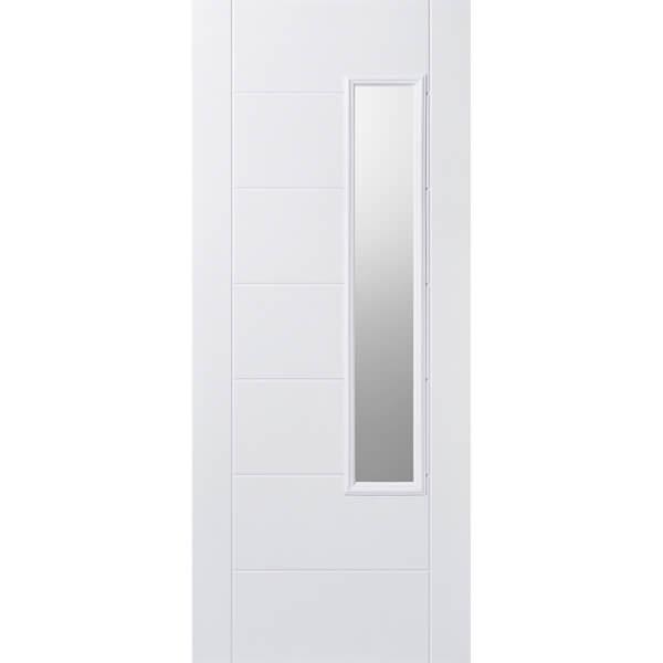 Newbury External Glazed White GRP 1 Lite Door - 813 x 2032mm