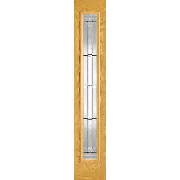 Elegant External Glazed Oak GRP 1 Lite Sidelight - 356 x 2032mm