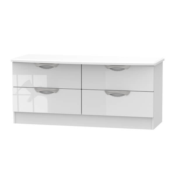 Portofino White Gloss 4 Drawer Bed Box