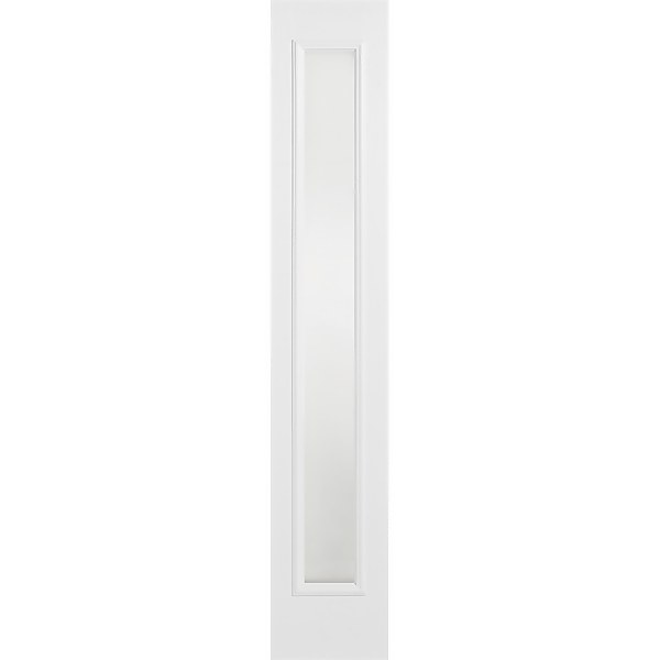 Frosted External Glazed White GRP 1 Lite Sidelight - 356 x 2032mm