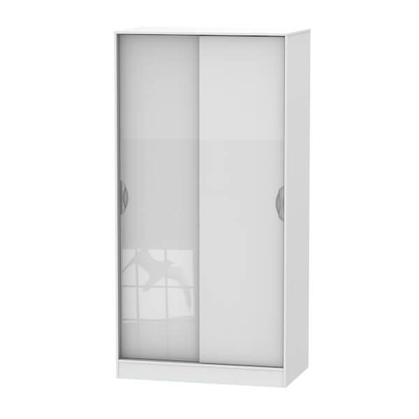 Portofino White Gloss Sliding Wardrobe