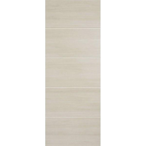Santandor Internal Ivory Laminate 5 Panel Door - 762 x 1981mm