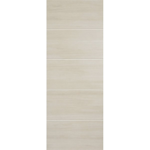 Santandor Internal Ivory Laminate 5 Panel Door - 838 x 1981mm