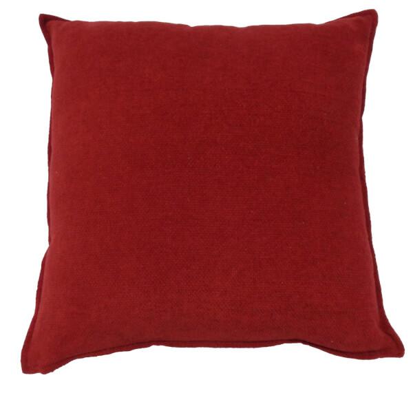Soft Chenille Cushion - Red - 58 x 58cm