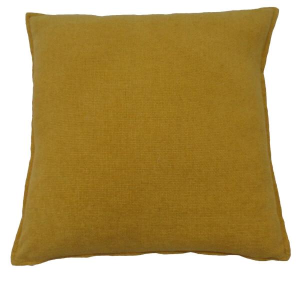 Soft Chenille Cushion - Ochre - 58 x 58cm