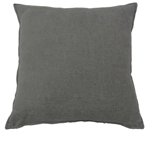 Soft Chenille Cushion - Light Grey - 58 x 58cm