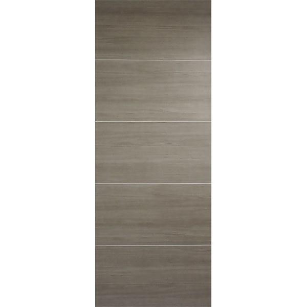 Santandor Internal Light Grey Laminate 5 Panel Door - 762 x 1981mm