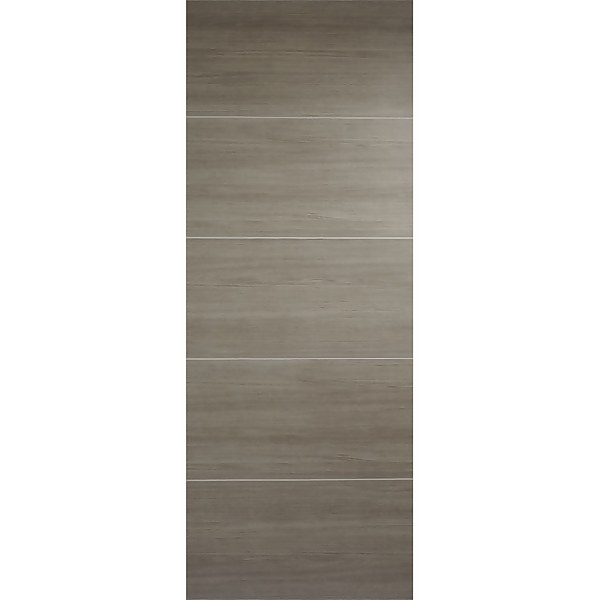 Santandor Internal Light Grey Laminate 5 Panel Door - 838 x 1981mm