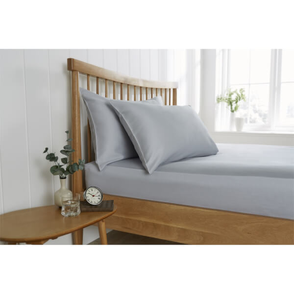 Behrens Single Fitted Sheet - Grey