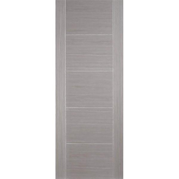Vancouver Internal Prefinished Light Grey 5 Panel Fire Door - 762 x 1981mm