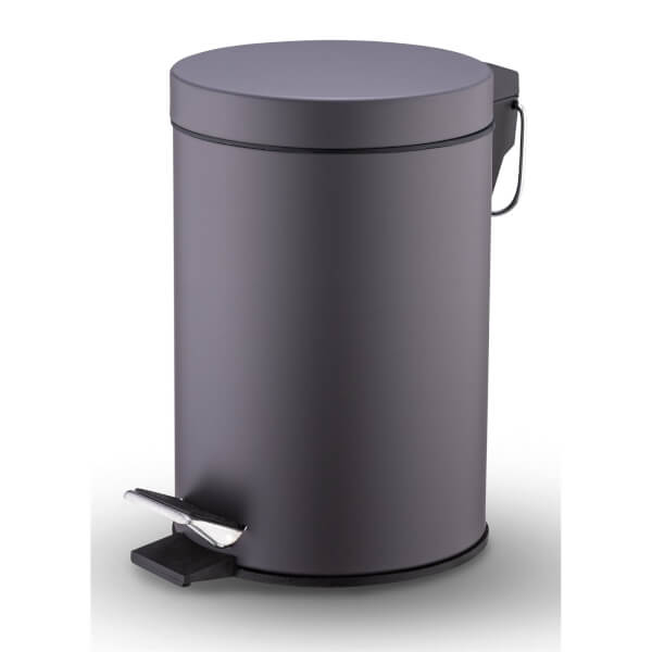 Bathroom Bin 3L - Charcoal Grey