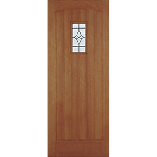 Cottage External Glazed Unfinished Hardwood 1 Lite Door - 838 x 1981mm