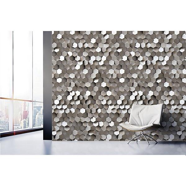 Grandeco 3D Grey Digital Wallpaper Mural
