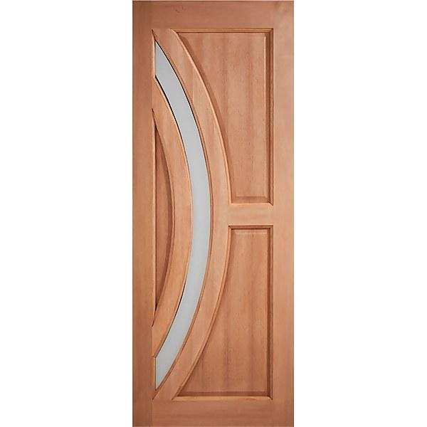 Harrow External Glazed Unfinished Hardwood 1 Lite Door - 813 x 2032mm