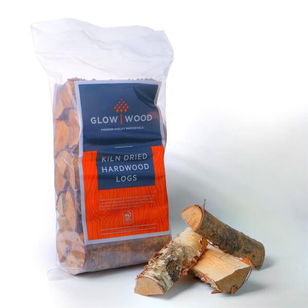 Glow Wood Hardwood Kiln Dried Wood Logs - 7kg Bag