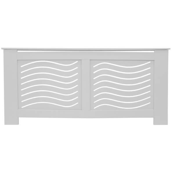 Wave White Radiator Cover - Extra Large