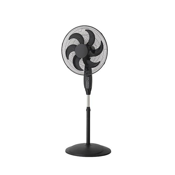 18 Inch Oscillating Pedestal Fan with Remote Control - Black