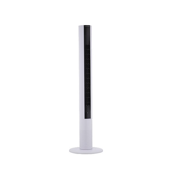 38 Inch Digital Touch Screen Slimline Tower Fan with Remote Control - White