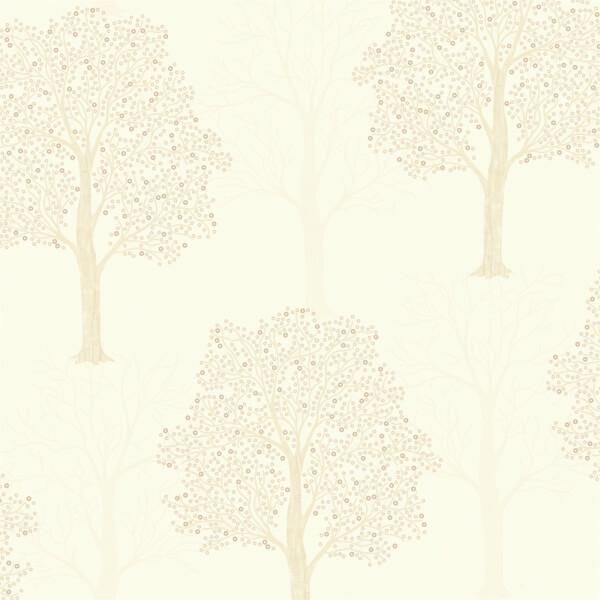 Holden Decor Ornella Tree Embossed Metallic Glitter Cream Wallpaper