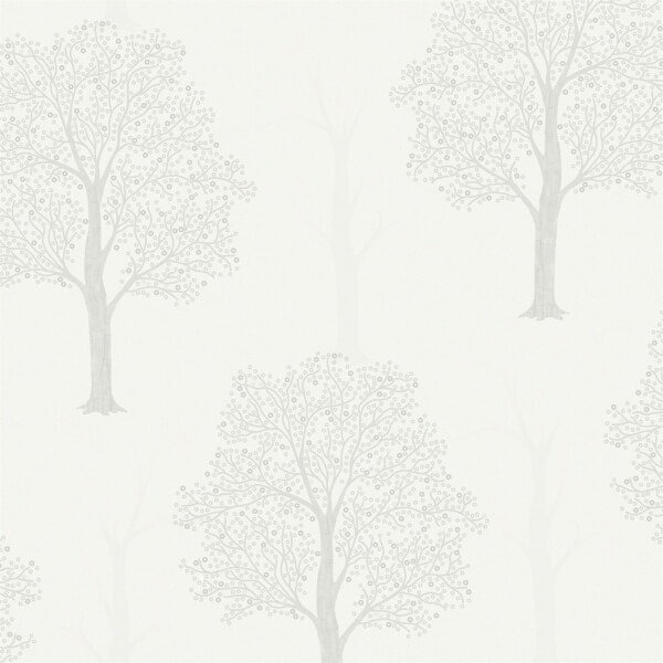 Holden Decor Ornella Tree Embossed Metallic Glitter Grey Wallpaper