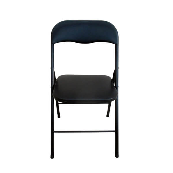Folding Metal Padded Chair in Black