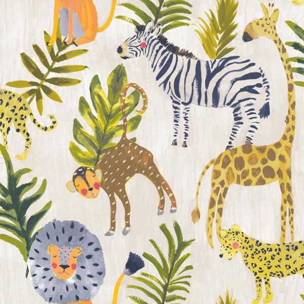 Grandeco Jungle Multicoloured Wallpaper