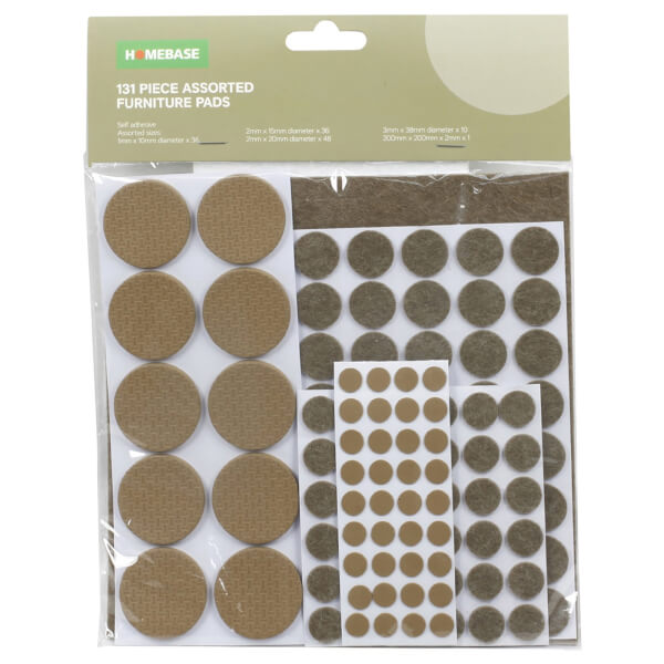 131PC Furniture Pads Assortment