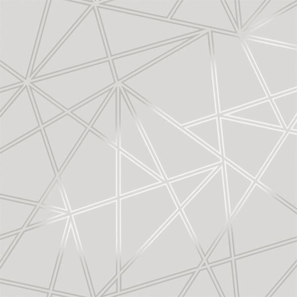 Holden Decor Paladium Geometric Smooth Metallic Grey Wallpaper