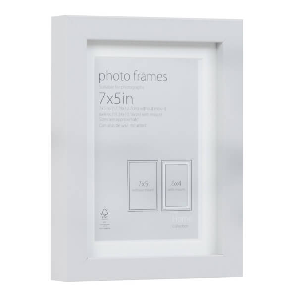 Photo Frame Grey 7 x 5 with 6 x 4 Mount Aperture