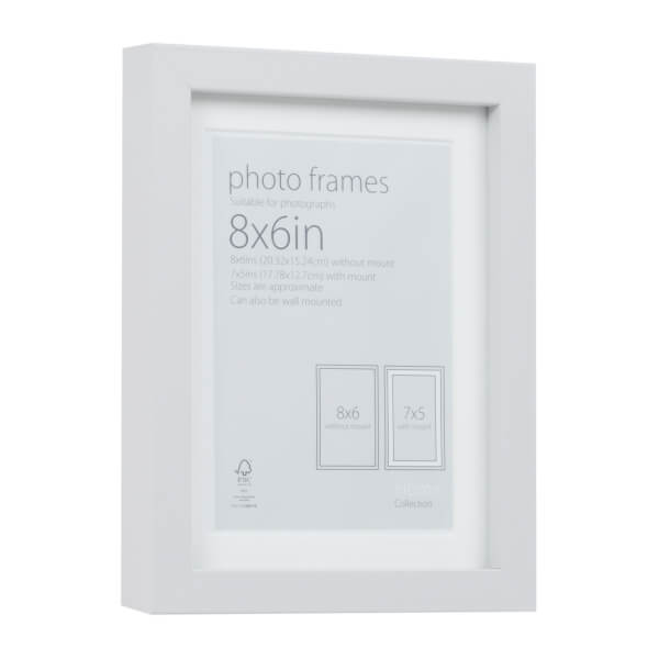 Photo Frame Grey 8 x 6 with 7 x 5 Mount Aperture