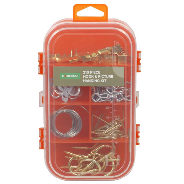 210pce Hook & Picture Hanging Kit