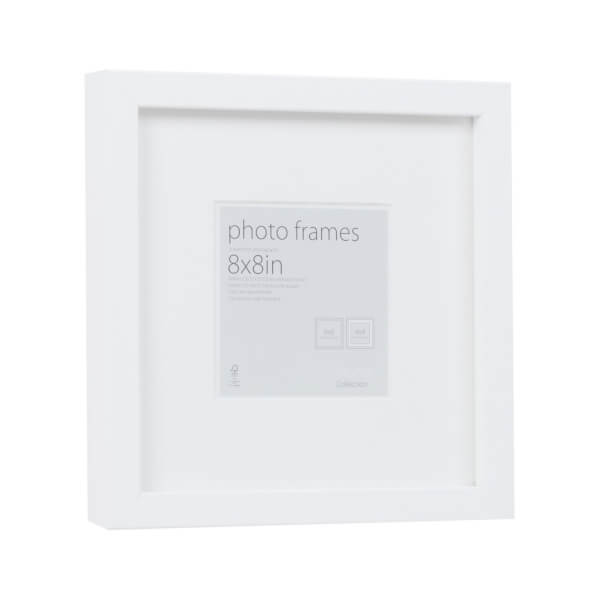 Photo Frame White 8 x 8 with 4 x 4 Mount Aperture