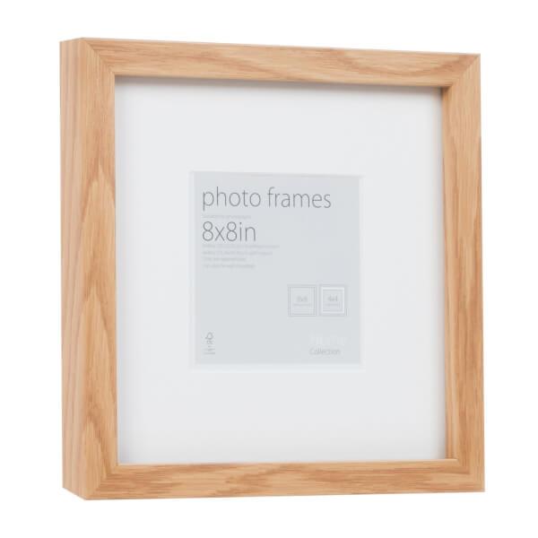 Photo Frame Oak 8 x 8 with 4 x 4 Mount Aperture