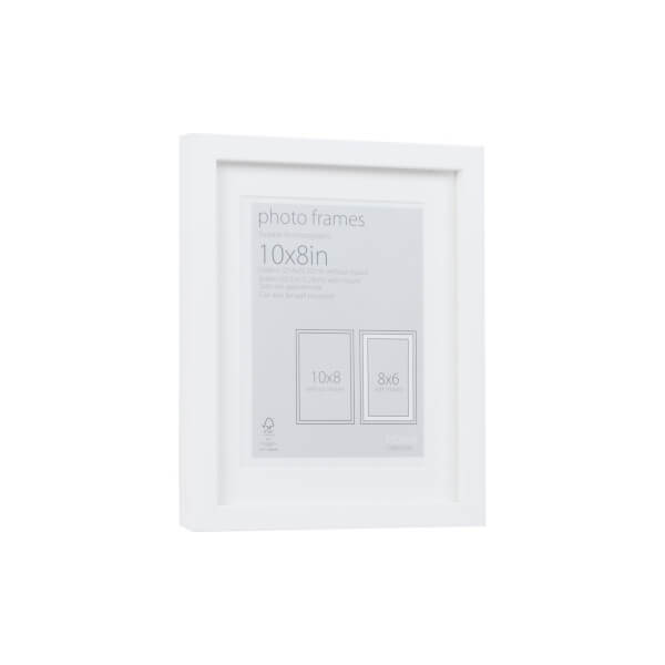 Photo Frame White 10 x 8 with 8 x 6 Mount Aperture
