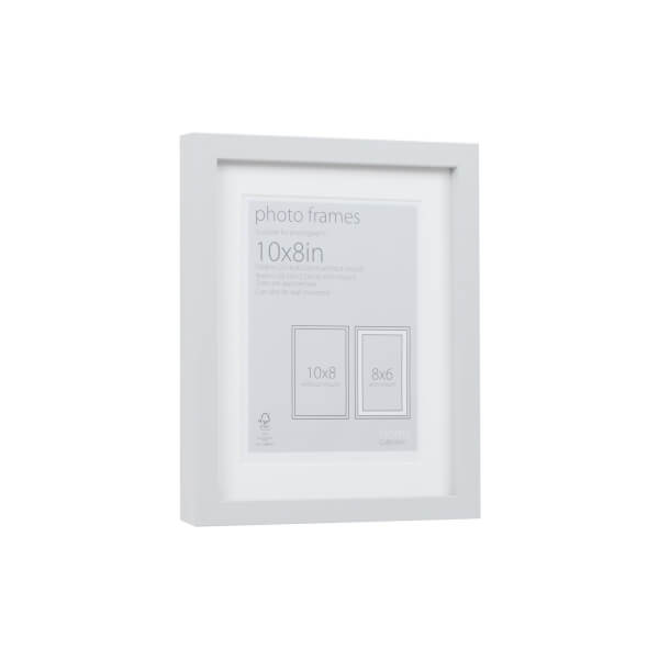 Photo Frame Grey 10 x 8 with 8 x 6 Mount Aperture