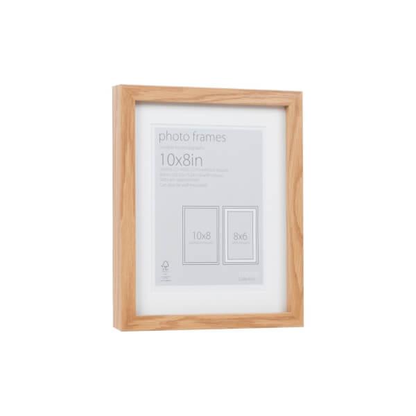 Photo Frame Oak 10 x 8 with 8 x 6 Mount Aperture