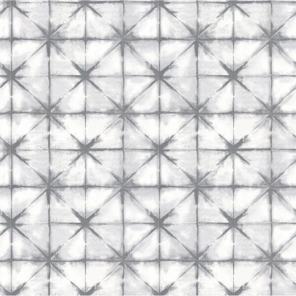 Holden Decor Azure Geometric Smooth Metallic Grey and Silver Wallpaper