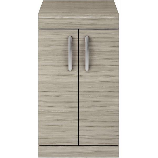 Balterley Rio 500mm Freestanding 2 Door Vanity With Worktop - Driftwood