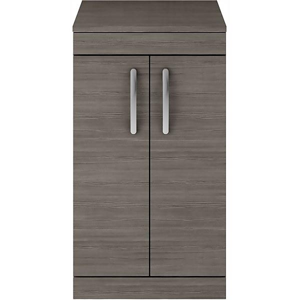 Balterley Rio 500mm Freestanding 2 Door Vanity With Worktop - Grey Avola