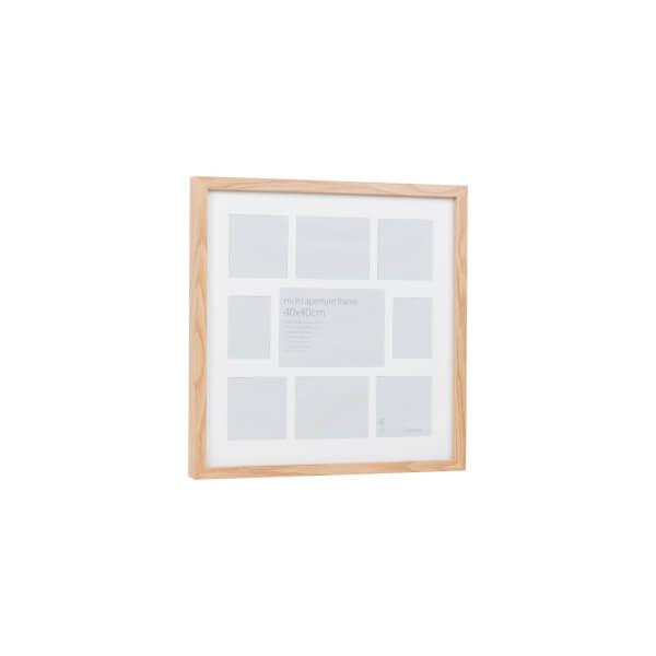 Multi Aperture Photo Frame Block Oak 40 x 40cm