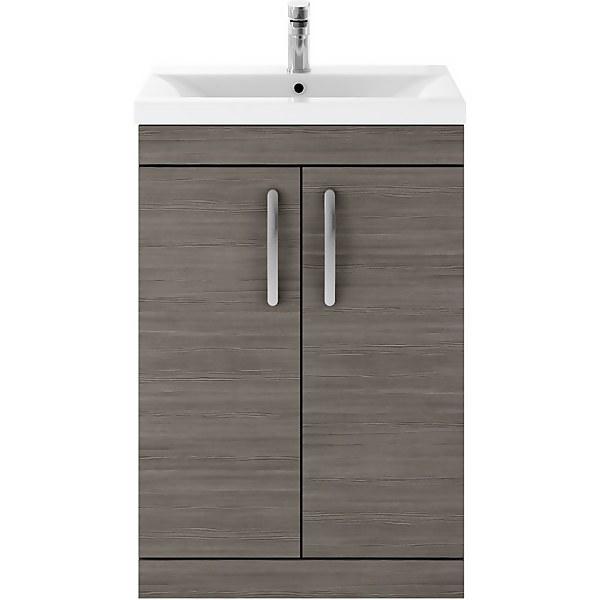 Balterley Rio 600mm Freestanding 2 Door Vanity With Basin 1 - Grey Avola
