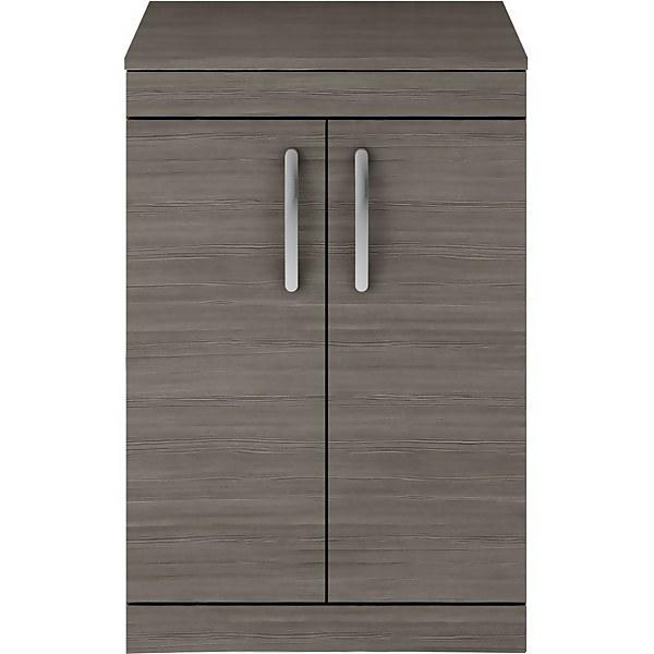 Balterley Rio 600mm Freestanding 2 Door Vanity With Worktop - Grey Avola