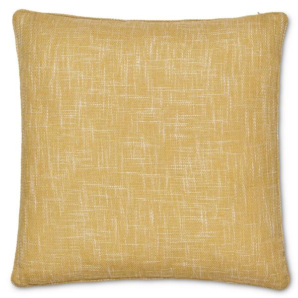 Semi Plain Textured Cushion - Ochre
