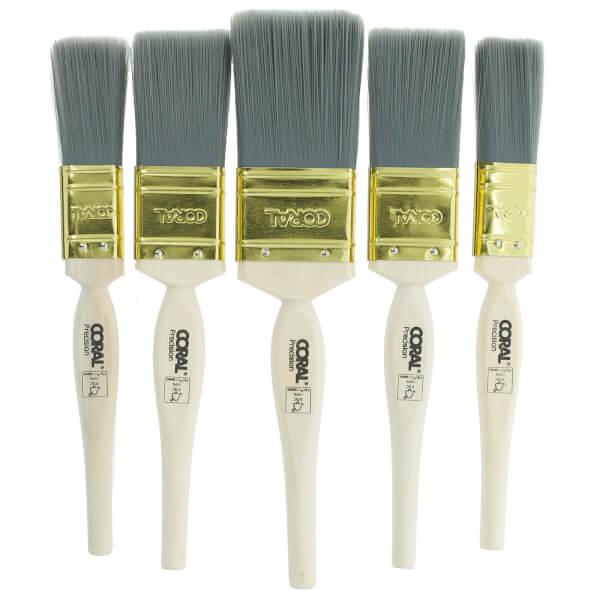 Coral Precision Paint Brush Set 5 Piece