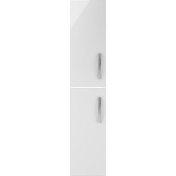 Balterley Rio 300mm Tall Unit 2 Door - Gloss White