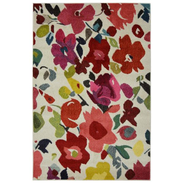 Villa Bright Floral Rug - 120 x 170cm