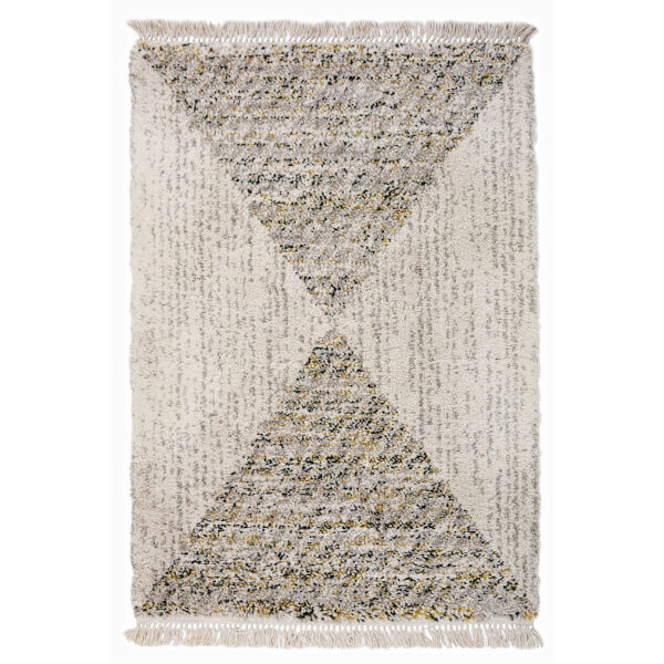 Safi Fringed Pyramid Natural Rug - 120 x 170cm