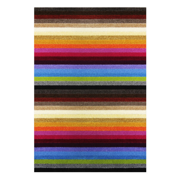 Sofia Stripe Washable Mat - Rainbow