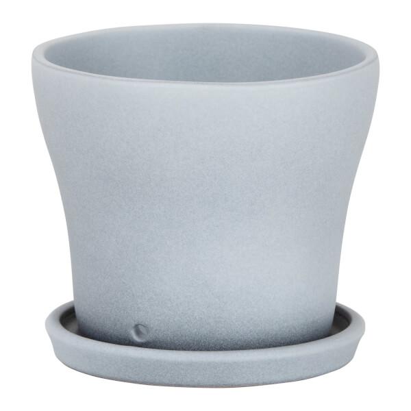 Grey Stone Ceramic Cover Pot 13cm