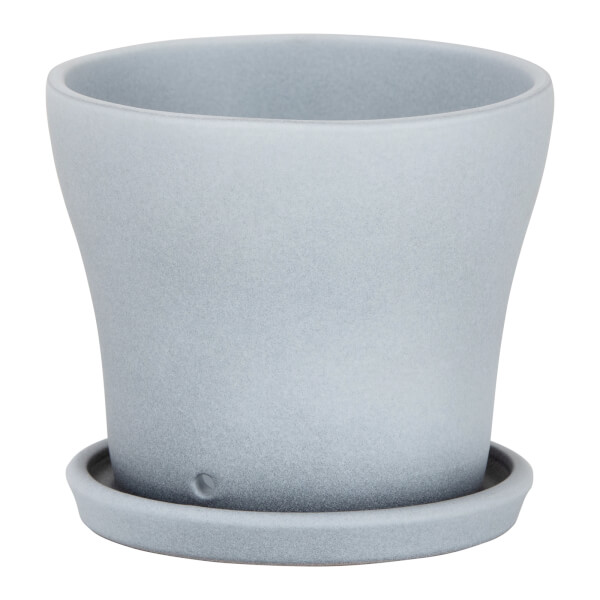 Grey Stone Ceramic Cover Pot 15cm